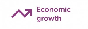 Economic growth logo